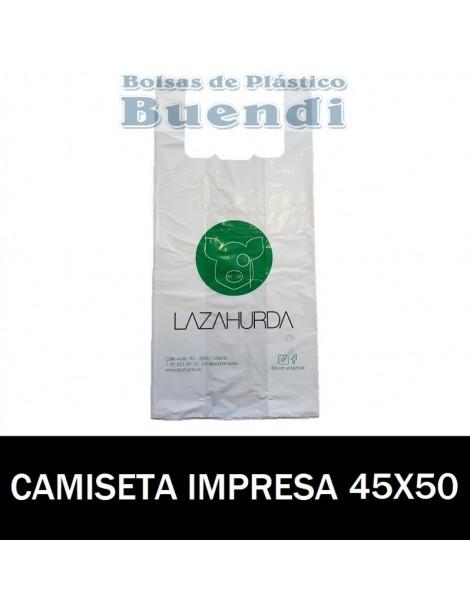 BOLSAS DE PLASTICO CAMISETA IMPRESAS 45X50 G.200