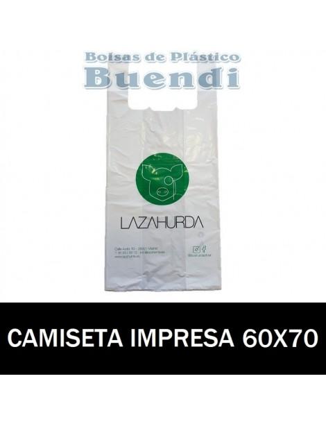 BOLSAS DE PLASTICO CAMISETA IMPRESAS 60X70 G.70