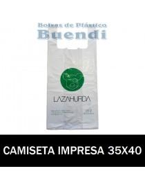 BOLSAS DE PLASTICO IMPRESAS CAMISETA 35x40 G.70