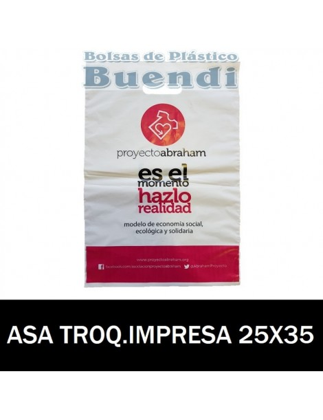 BOLSAS DE PLASTICO ASA TROQUELADA IMPRESAS 25x35