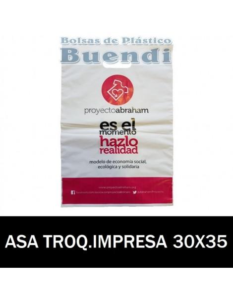 BOLSAS DE PLASTICO ASA TROQUELADA IMPRESAS 30X35