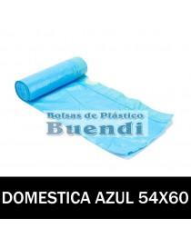BOLSAS DE BASURA AZUL AUTOCIERRE 54x60 15 SERV. G.100