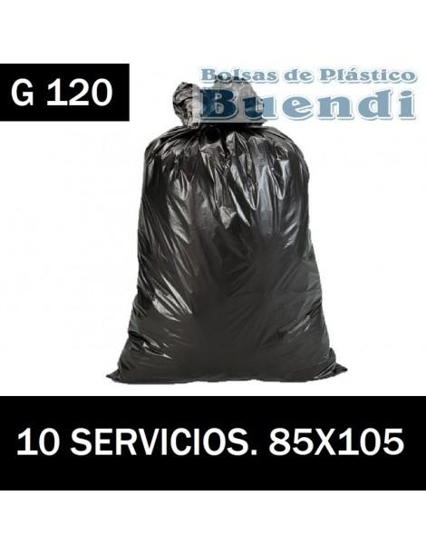 BOLSAS DE BASURA NEGRA INDUSTRIALES 85X105 10 SERV. G.120