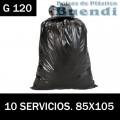 BOLSA DE BASURA NEGRA INDUSTRIALES 85x105 10 SERV. G.120