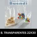 BOLSAS DE PLÁSTICO TRANSPARENTES 22x30