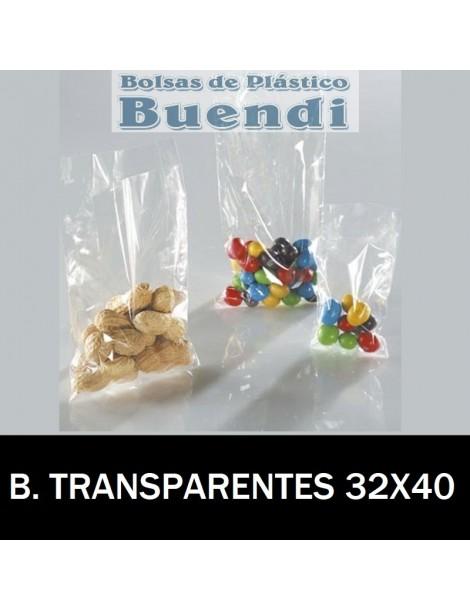 BOLSAS DE PLÁSTICO TRANSPARENTES 32x40