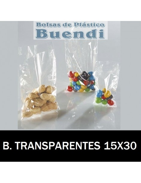 BOLSAS DE PLÁSTICO TRANSPARENTES 15x20