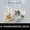 BOLSA DE PLÁSTICO TRANSPARENTE 15X30