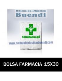 BOLSAS DE FARMACIA PERSONALIZADAS SOBRE (15x30)
