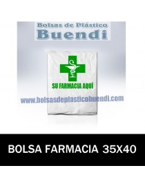 BOLSAS DE FARMACIA PERSONALIZADAS ASA CAMISETA (35x40)