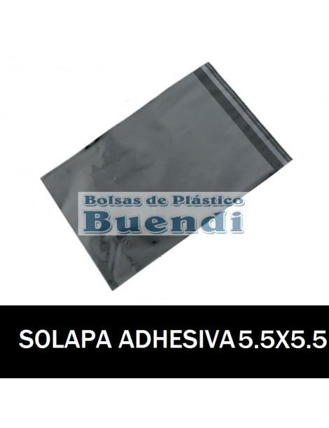 BOLSAS DE PLASTICO CON SOLAPA ADHESIVA 5,5X5,5