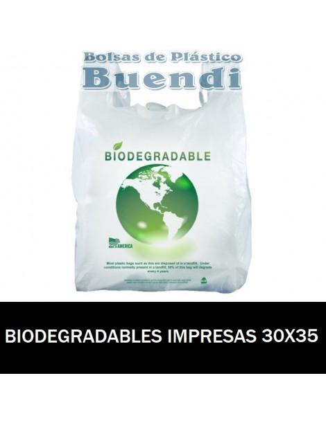 BOLSAS BIODEGRADABLES CAMISETA IMPRESAS 30X35