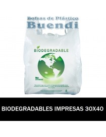 BOLSAS BIODEGRADABLES CAMISETA IMPRESAS 30X40