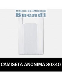 BOLSAS DE PLASTICO ASA CAMISETA ANÓNIMAS 30X40
