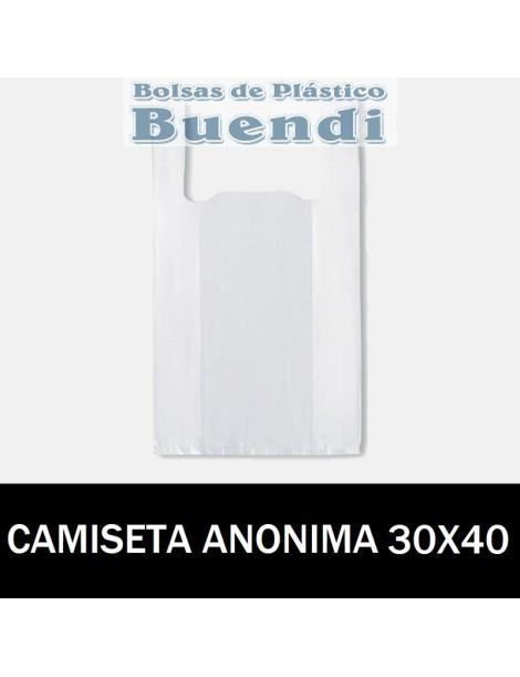 BOLSAS DE PLASTICO CAMISETA ANÓNIMAS 30X40