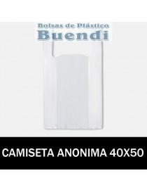 BOLSA DE PLASTICO ASA CAMISETA ANONIMA 40x50