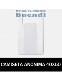 BOLSA DE PLASTICO CAMISETA ANONIMA 40x50
