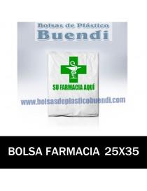 BOLSAS DE FARMACIA PERSONALIZADAS ASA CAMISETA (25x35)