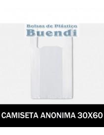BOLSAS DE PLASTICO ASA CAMISETA ANÓNIMAS 30X60