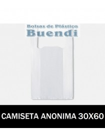 BOLSAS DE PLASTICO CAMISETA ANÓNIMAS 30X60
