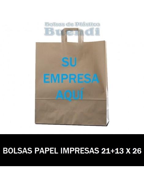 BOLSAS DE PAPEL PERSONALIZADAS 21+13 X 26