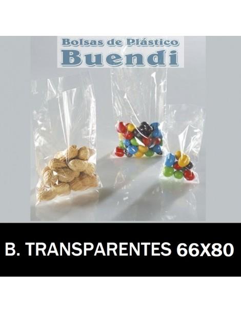 BOLSAS DE PLÁSTICO TRANSPARENTES 66X80