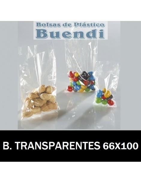BOLSAS DE PLÁSTICO TRANSPARENTES 66X100