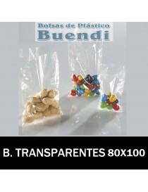 BOLSAS DE PLÁSTICO TRANSPARENTES 80x100