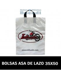 BOLSAS DE PLASTICO IMPRESAS ASA DE LAZO 35X50