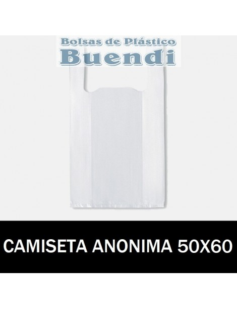 BOLSAS DE PLASTICO ASA CAMISETA ANÓNIMAS 50X60 G.200