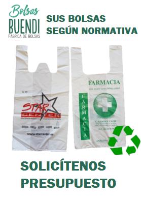 Bolsas de plastico personalizadas material reciclado